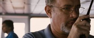 Tom Hanks knows how to use a walkie talkie as Captain Phillips
