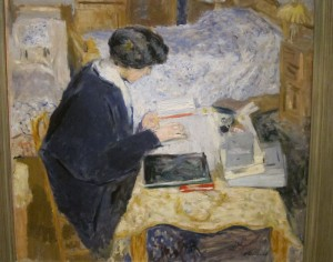 Vuillard painting of a woman writing
