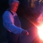 Ranald with a sparkler
