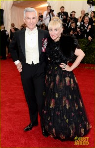 Baz Luhrmann and wife -- CATHERINE MARTIN!!! -- at the Met Gala